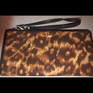 Coach Leopard wristlet Wallet